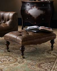 Brown Leather Chair With Ottoman Old Hickory Tannery Tufted Leather Chair U0026 Ottoman