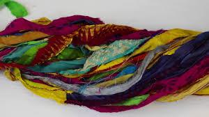 sari silk ribbon at the bahamas multi colored sari silk ribbon yarn
