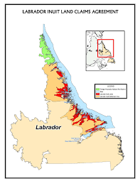 Newfoundland Canada Map by Map Of Labrador Inuit Land Claims Favorite Places Pinterest