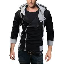 djt men s oblique zipper hoo casual top coat slim fit jacket at