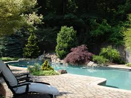 uphill attractive swimming pool outside residence at isabella