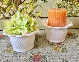 Milk Vases For Centerpieces by Milk Glass Vases Bud Vases Small Vase Wedding Vases White