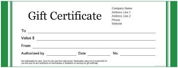 template gift voucher custom gift certificate templates for
