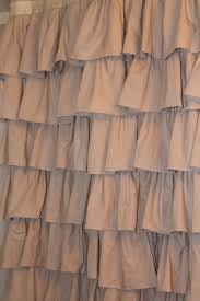 Brown Ruffle Shower Curtain by Linen The Corner Farmhouse