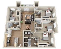 four bedroom floor plans luxury 3 4 bedroom student apartments in columbia sc