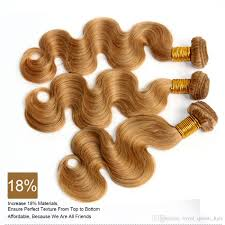 cinderella extensions curly hair honey blonde russian body wave virgin hair weave sexy color 27