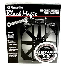 flex a lite electric fan kit flex a lite black magic electric fan 86 93 mustang 5 0