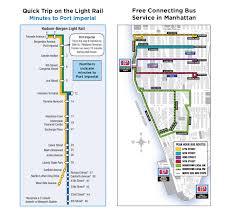 hudson bergen light rail map light rail ferry ticket