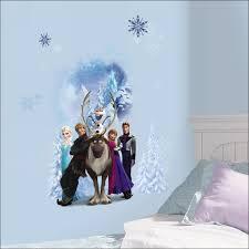 frozen bedroom decor wall border decal of snow queen elsa sven