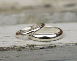 white gold wedding band sets wedding bands etsy uk