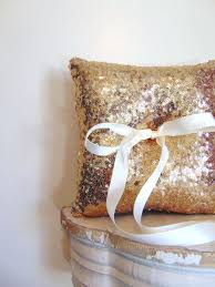 gold sequin ring bearer pillow gold ring bearer pillow gold