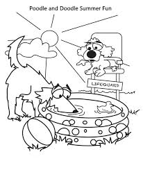 poodle and doodle summer vacation coloring page download u0026 print