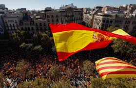 Barcelona Spain Flag In Pictures Hundreds Of Thousands March For Unified Spain