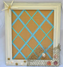 Cork Board Decorative Frame Diy Summer Cork Board With A Beach Theme Will Be The Perfect