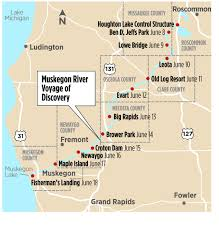 Michigan River Map by Paddling For Publicity Group Looks To Bring Attention To Muskegon
