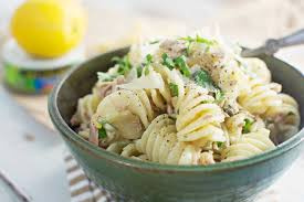 tuna with a lemon pepper cream sauce and pasta little figgy food