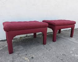 Pillow Top Bench Billy Haines Etsy