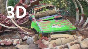 Jurassic Park Picture Cars And Flash Flood 3d Universal Studios