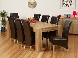 10 Chair Dining Table Set Solid Oak Extending Dining Table And 6 Chairs Modern Home Design