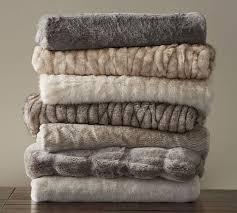 fur throws for sofas faux fur throw pottery barn