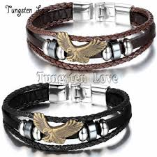 make men bracelet images Buy men vintage jewelry eagle leather bracelet jpg