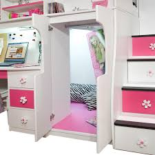 91 74 play u0026 study twin loft bed with 4 stairs kid room ideas