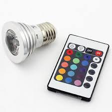 e27 3w rgb multicolor led 16 color changing l light bulb ir