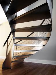 Mahogany Banister Residential U2014 Custom Metal Fabrication In Brooklyn Nyc