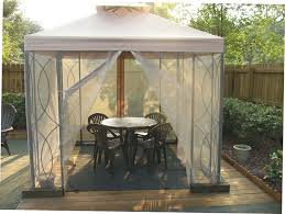 Mosquito Nets For Patio Outdoor Patio 8x8 Gazebo With Mosquito Net Privacy Curtains Canopy