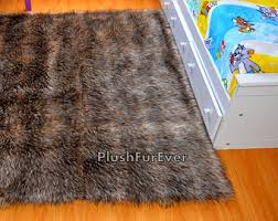staggering brown faux fur rug marvelous design amazoncom fur
