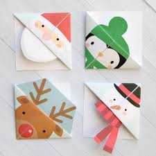 How To Make Origami Christmas Cards Printable Christmas Origami Bookmarks It U0027s Always Autumn