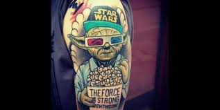 love this tattoo of yoda from star wars tattoo may the force be