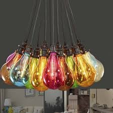 simple designer 15 lights edison bulb style multi color multi