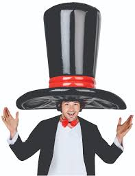 halloween deluxe giant inflatable traditional black top hat spooky