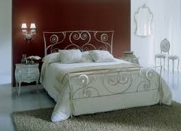 Wrought Iron And Wood Nightstands Bedrooms Stunning Bedroom With Wrought Iron Canopy Bed Also Wood