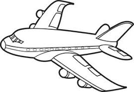 free printable jet airplane coloring kids