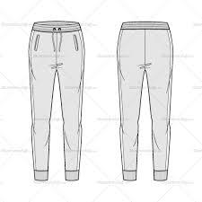 women u0027s the slim jogger fashion flat template sketches fashion