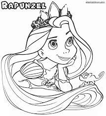 smiling princess rapunzel coloring pages printable free coloring