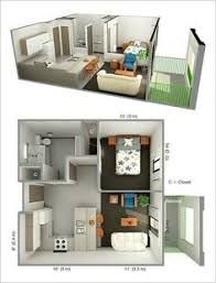 Square Meters Apartment Floor Plan Google Search  Bedrroom - One bedroom apartment interior design