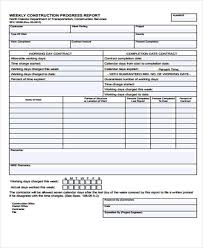 Construction Progress Report Template Free by Construction Report Templates 9 Free Sle Exle Format