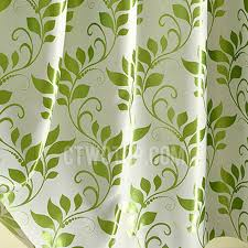 Leaf Design Curtains Leaf Pattern Thick Insulated Polyester Blackout Curtains Panels