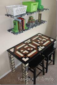 Minecraft Boy s Room Décor Idea Wood Minecraft Characters