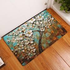 Painting An Outdoor Rug 2017 Modern 3d Painting Flower Trees Carpets Anti Slip Bedroom