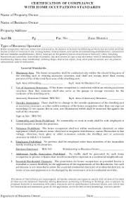 in home occupation worksheet sycamore township