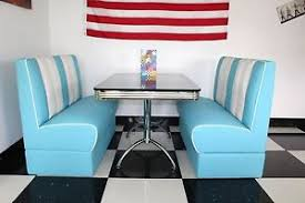 diner style booth table american diner furniture 50s style retro black booth table and blue