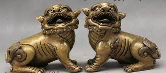 foo lion statue 5 fengshui door guardian wealth foo fu dog lion