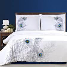 Peacock Feather Comforter Peacock Feather Bedding Wayfair