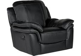 cindy crawford home grand palazzo black leather rocker recliner