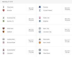 Jadwal Liga Inggris Jadwal Liga Inggris Malam Ini 10 13 Februari 2018 Taruhanbolasbobet
