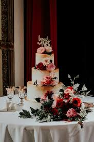 floral and gold wedding cake pensacola florida kate u0027s cakes